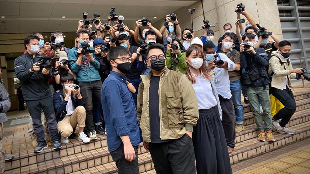 包圍警總案:黃之鋒周庭林朗彥罪名成立