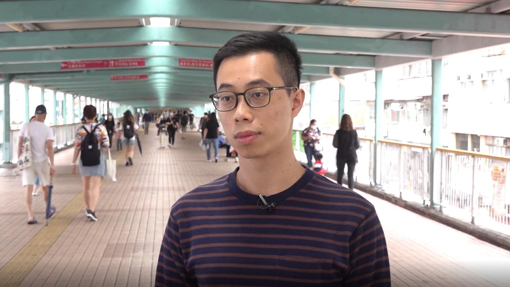 2021年4月27日,楊政賢曾於2013至14年擔任民陣召集人。(鄧穎韜 攝)