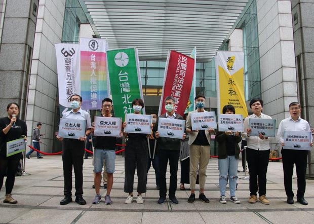 台湾公民团体拟于10月25日在台北发起撑港游行。(受访者提供)