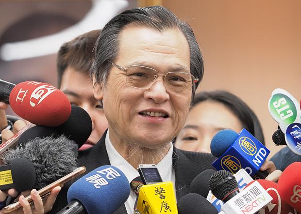 2019年12月27日,台灣陸委會主委陳明通︰「反滲透法」不是針對台灣人,而是針對中國滲透行為。(鍾廣政攝)