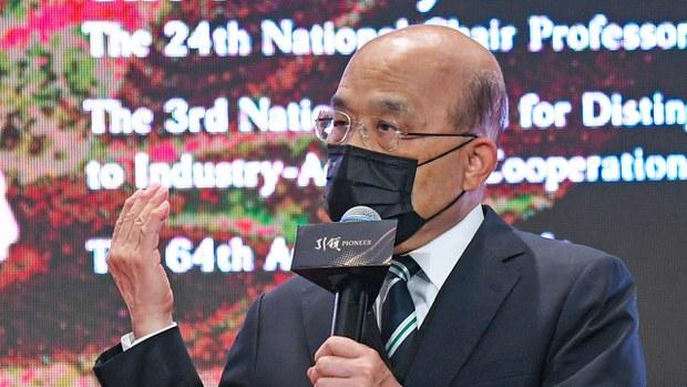 台政界支持抵制北京冬奥 苏贞昌 : 政府参考国际做法作出决定