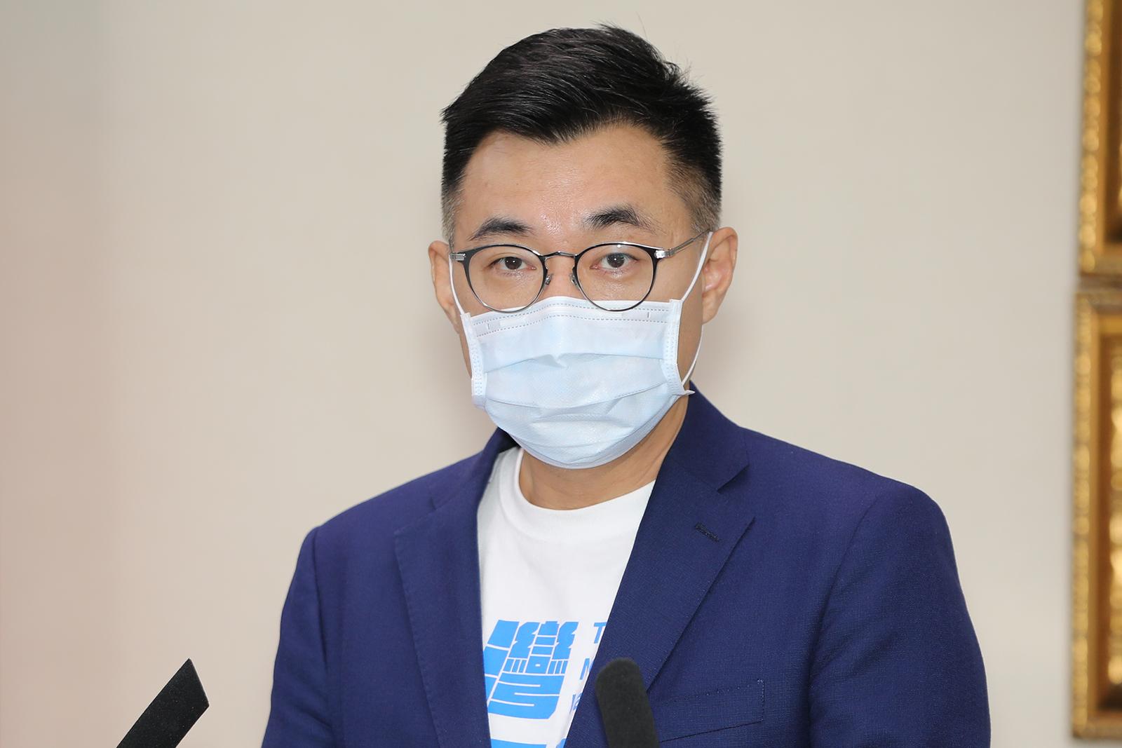 2021年7月7日,国民党主席江启臣:台独会破坏区域和平及两岸关系,并带来冲突。(国民党提供)