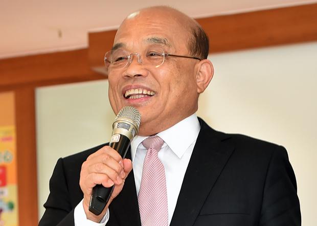 2020年2月27日,台灣行政院長蘇貞昌︰疫情指揮中心提升為一級開設,各部會成立「武漢肺炎小組」,不可以讓疫情擴散。(台灣行政院提供)