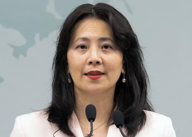 2020年6月10日,台灣外交部發言人歐江安:釣魚台列島是固有領土無毋庸置疑。(鍾廣政 攝)