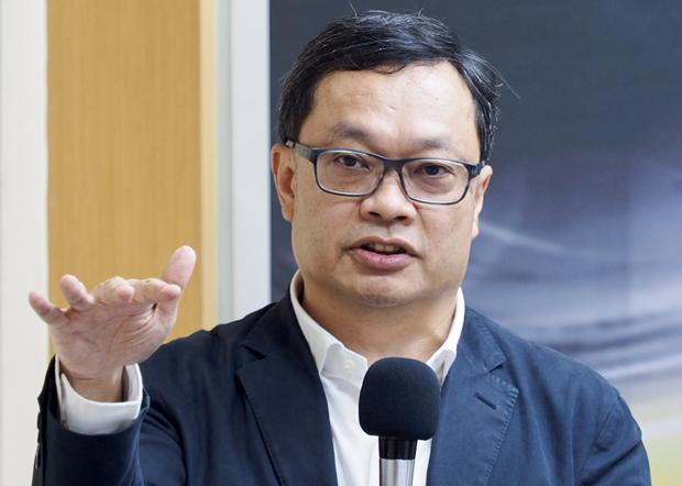 2020年6月3日,陆委会前副主委陈明祺:台湾纪念「六四」,除了彰显守护民主,也是展现对威权政体扩张的抵抗。(锺广政 摄)