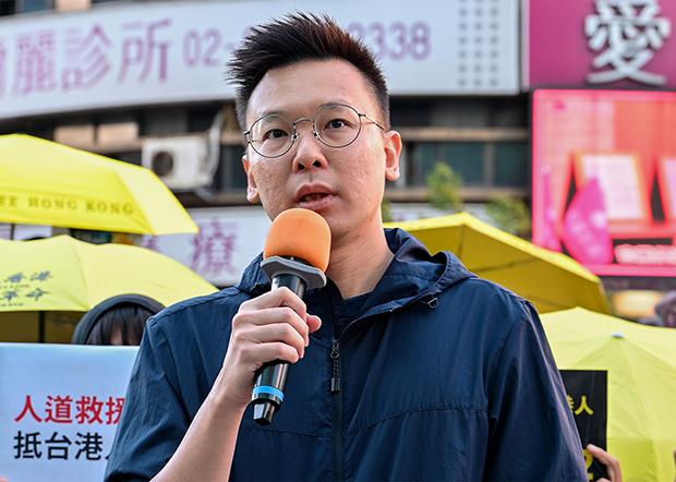 2020年10月25日,民進黨副秘書長林飛帆:台灣對港人的援助仍有需要檢討的地方。(鍾廣政 攝)