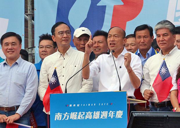 2019年12月21日,高雄市长韩国瑜:如果觉得过去三年充满苦闷,感觉不到未来有希望,请投票支持他。(锺广政 摄)