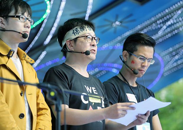 2019年12月21日,罢免高雄市长韩国瑜发起人尹立:五天后将递交第一阶段连署书,正式发动罢免韩国瑜。(Wecare提供)
