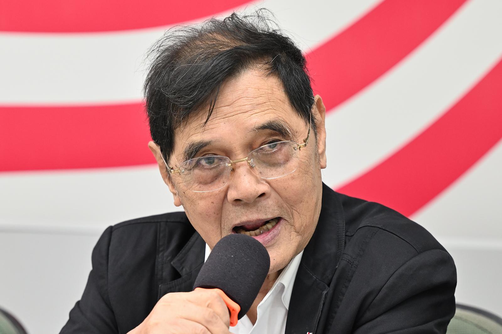 2021年1月12日,台獨聯盟主席陳南天:中華民國不將國號更改為台灣,無法再重新加入聯合國。(鍾廣政 攝)