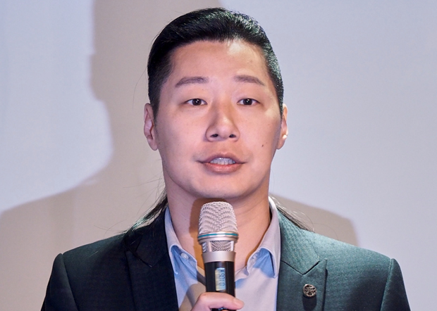 2020年3月19日,台灣無黨籍立委林昶佐:呼籲中國政府盡快公開李明哲在監獄情況,並恢復和家人通信。(鍾廣政 攝)