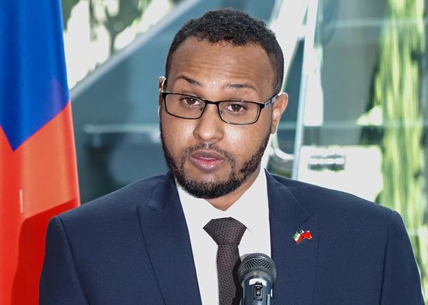 2020年9月9日,索馬利蘭駐台灣代穆姆德:索馬利蘭是主權獨立國家,樂於與台灣及其他國家建立關係。(鍾廣政 攝)
