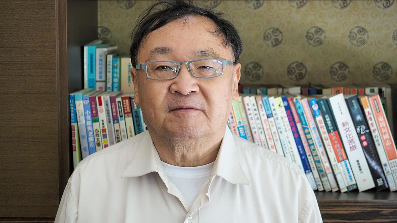 2021年4月6日,淡江大學榮譽教授陳一新:解放軍機和遼寧號航母進入台灣西南方,主要目標是美國而非台灣。(鍾廣政 攝)