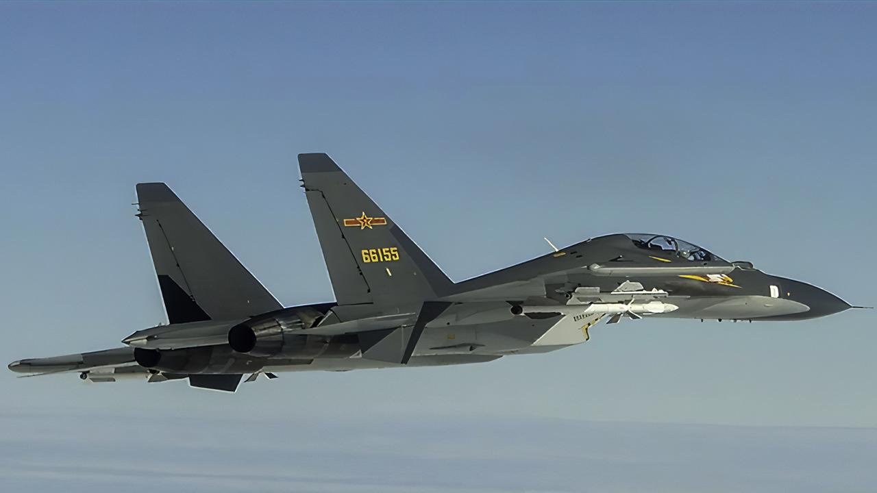 2020年9月10日,多架次中国苏恺30战机,连续两天闯入台湾西南防空识别区。(台湾国防部提供)