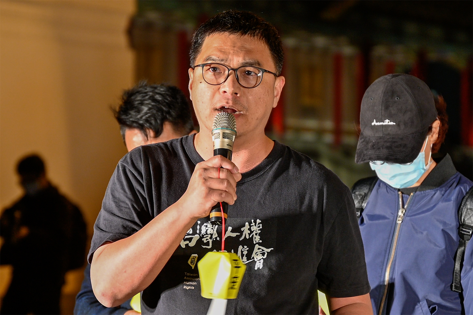 2021年2月8日,台湾人权促进会秘书长施逸翔:政府应成立人权庇机制,收容香港和西藏等受迫害人士。(锺广政 摄)