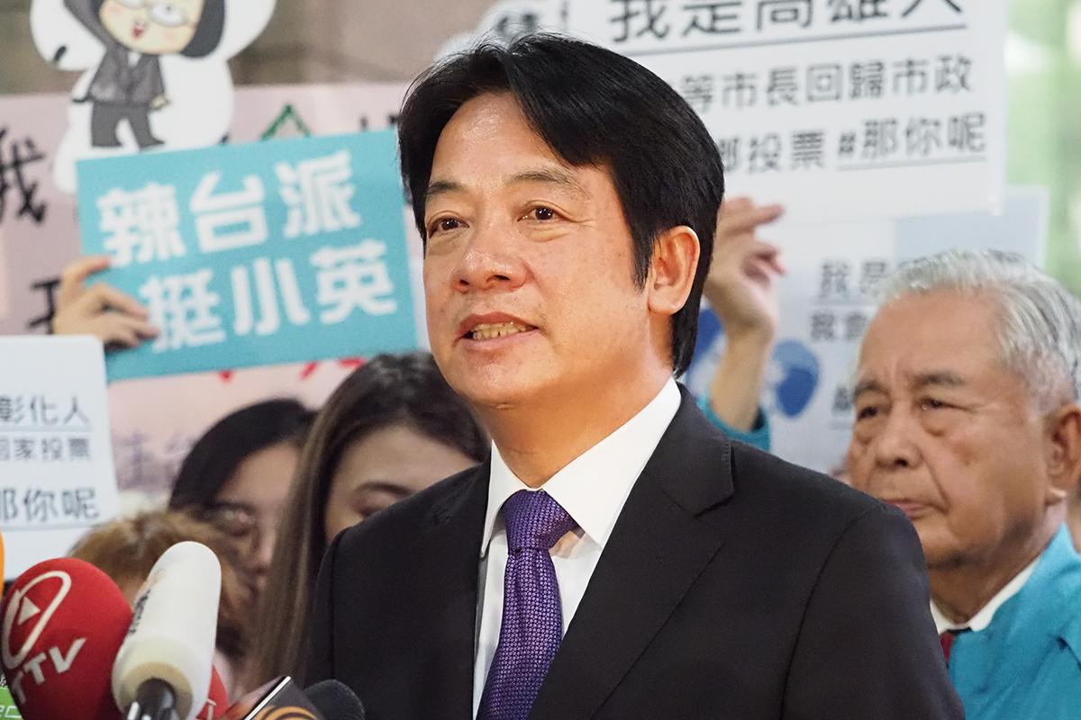 2019年11月19日,前行政院長賴清德:他主張的務實台獨,就是不必另外宣布台灣獨立。(鍾廣政 攝)