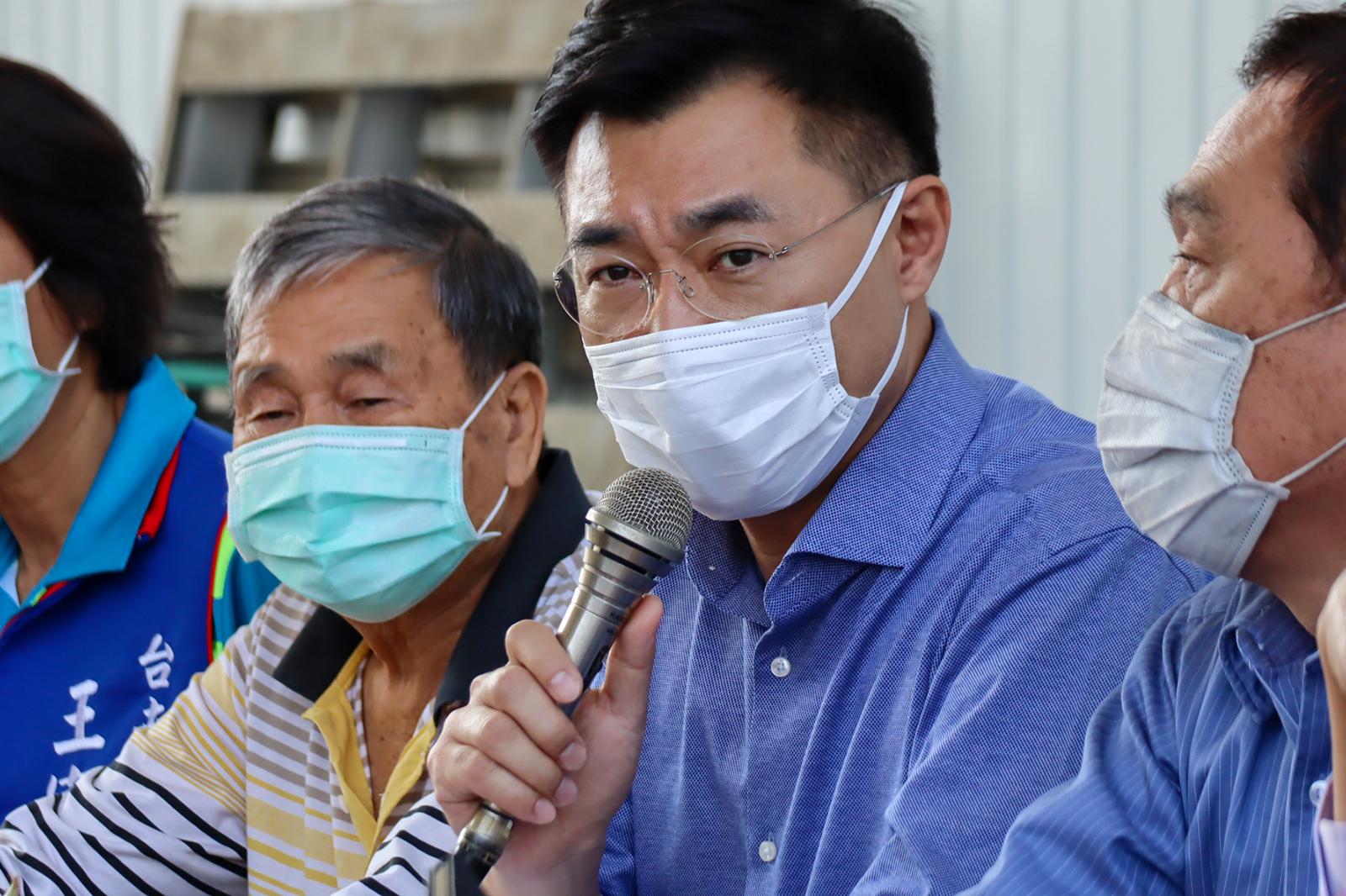 2021年3月1日,國民黨主席江啟臣:對香港國安法變成打擊異己的工具,相當令人遺憾也相當失望。(國民黨提供)