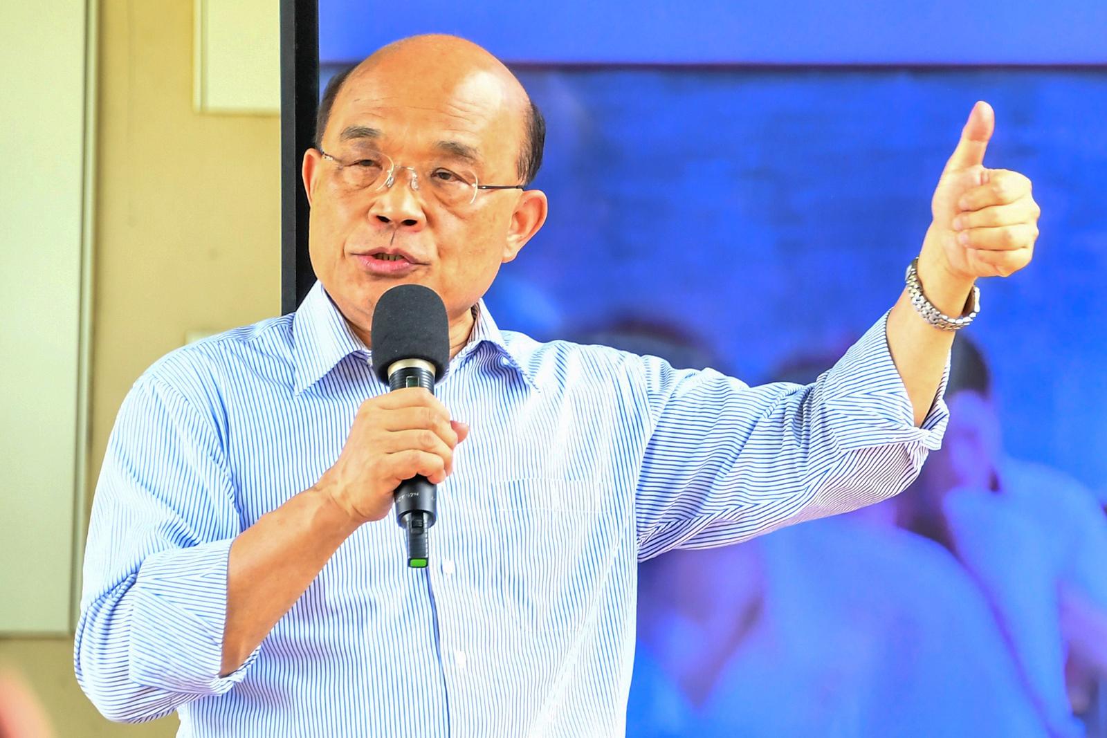 2020年7月7日,行政院长苏贞昌:从「港版国安法」可以看到,台湾一直坚持主权、坚持安全是多么的重要。(行政院提供)