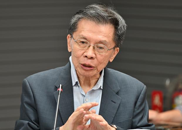 2020年10月28日,政治评论员沈富雄:民进党政府并未就美国大选后局势准备因应剧本。(锺广政 摄)