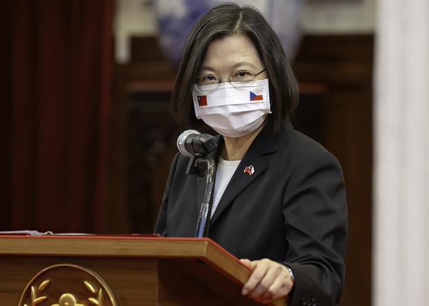 2020年9月3日,台灣總統蔡英文:台灣和捷克都不會屈服於壓迫,會更積極參與國際事務。(台灣總統府提供)