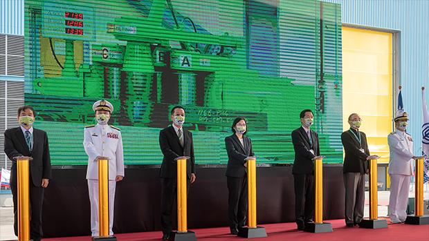 蔡英文主持國造潛水艇動工儀式:讓世界看見台灣守護主權的強烈意志