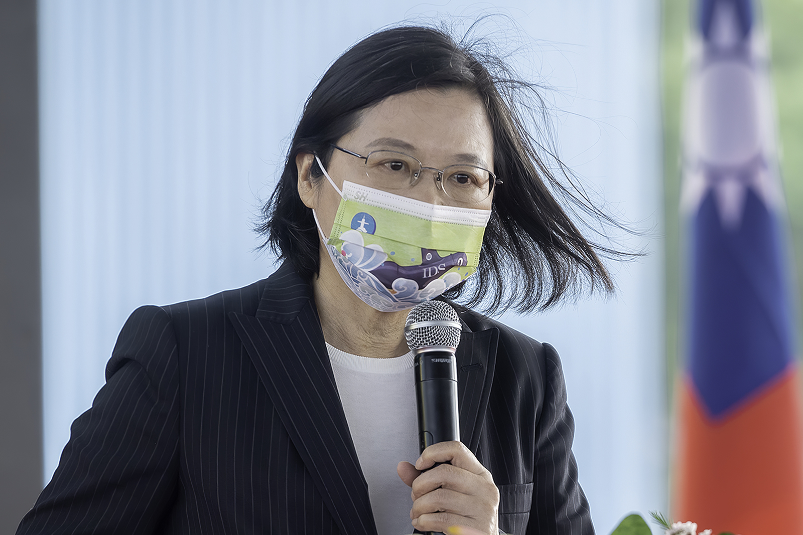 2020年11月24日,總統蔡英文:自製潛水艇動工,讓世界看見台灣守護主權的強烈意志。(總統府提供)