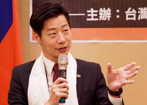 2020年7月8日,「台灣國會西藏連線」會長林昶佐:台灣民間隨時都方便歡迎達賴訪台,不知道政府甚麼時候方便。(鍾廣政 攝)