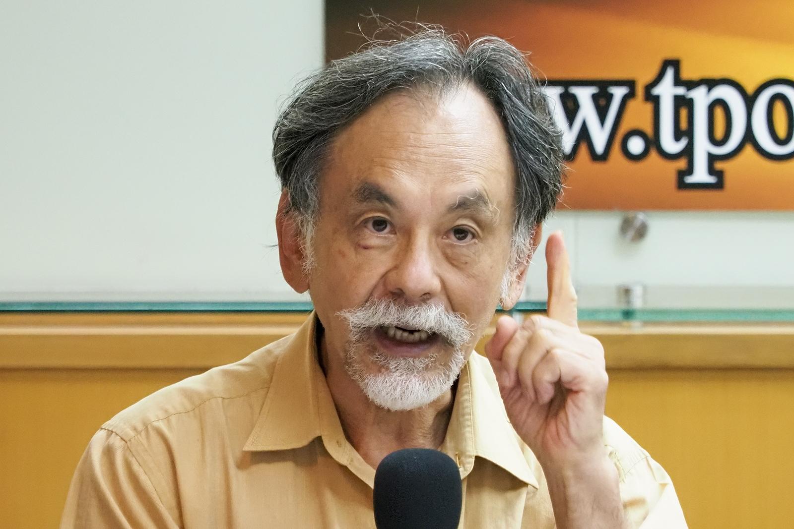 2020年7月27日,前立委林浊水:不赞成以修宪来更改国号,也反对独派的公投制宪行动。(锺广政 摄)