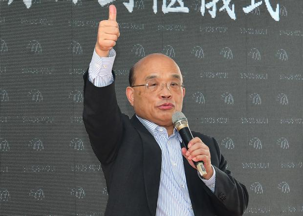 2020年11月20日,行政院长苏贞昌:乐见美国环保署长惠勒访问台湾。(行政院提供)