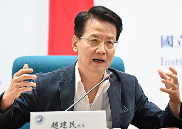 2020年10月30日,文化大学社会科学院院长赵建民:习近平政权未如台湾国安单位认为处于岌岌可危的状态。(锺广政 摄)
