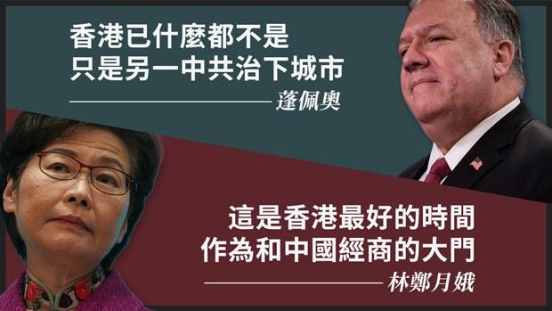 蓬佩奧林鄭就香港狀況隔空對質 經濟學者指現實數據無法「呃人」