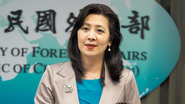 2020年11月13日,外交部发言人欧江安:感谢蓬佩奥对台湾的支持和对台湾民主的肯定。(锺广政 摄)