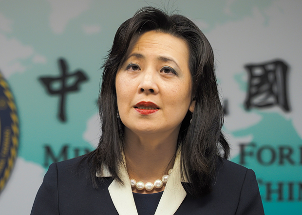 台湾外交部发言人欧江安:阿札尔访台证明近年来台美互信基础稳固沟通顺畅。(锺广政 摄 / 2020年4月9日)