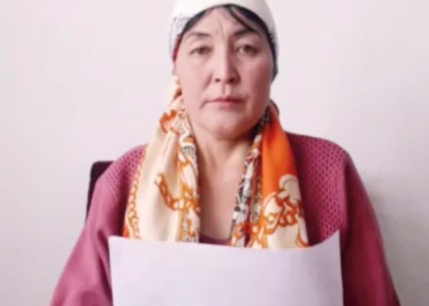 哈萨克斯坦公民依孜巴沙尔‧阿迪力汉,呼吁中国政府释放她的两个哥哥和一个表弟。(家属提供)