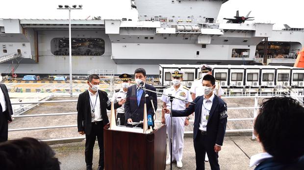 抗衡中國在印太地區影響 英國最大航母進入日本