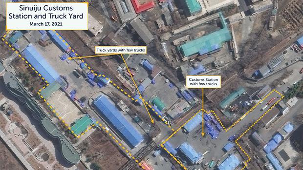 华府智库比对卫星图片后发现:朝中铁路贸易或即将重启