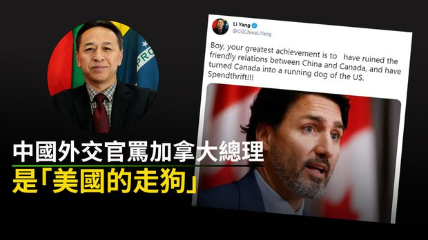 中國戰狼辱加總理「美國走狗」 網民:外交官掉到這種水平