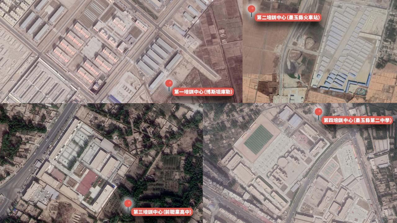墨玉县位于新疆维吾尔自治区西南部,有四座集中营。(Uyghur Human Rights Project提供 / 粤语组制图)