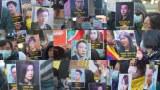 主办单位在时代广场展示47名被捕人士的相片,又安排纸笔让在场人士写上对47人的心声。