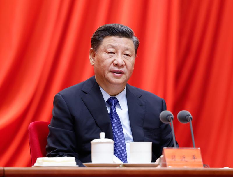 習近平在中共建黨前夕和20大前加緊塑神,宣傳其思相的「學習強國」被認為相當於毛時代的「紅寶書」。 (中國政府網)