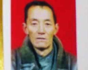 甘肅夏河縣58歲藏民多杰仁青,10月23日在縣武裝部前自焚身亡。(照片由自由西藏提供)