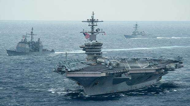 美罗斯福号航母抵黄岩岛 学者指美震慑举动将持续