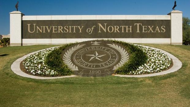 美国北德州大学校园一角。(网络图片)