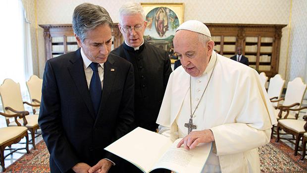 布林肯晤教宗及教廷高層 談及中國人權與宗教自由問題