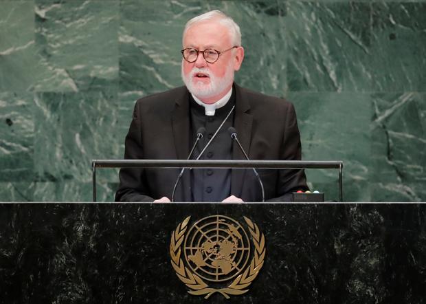 罗马教廷国家关系大臣保罗•加拉格尔(Paul Gallagher)大主教。(路透社资料图片)