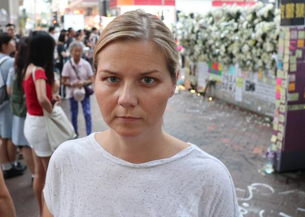挪威自由党国会议员、现任教育部长的梅尔比(Guri Melby)去年曾到香港「反送中」抗议现场,去年10月她提名香港人竞逐诺贝尔和平奖。(梅尔比脸书图片 / 拍摄日期不详)