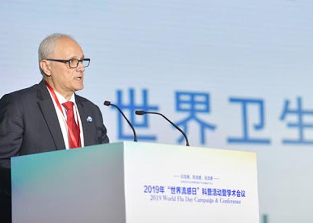 世卫组织驻华代表高力(Gauden Galea)在一次会议上曝光中国政府在央视播出疫情资讯前15分钟才提供给世卫。(中国疾控中心官网图片 / 拍摄日期不详)