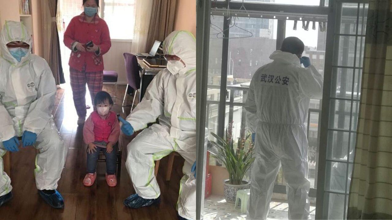 2020年3月10日,國家主席習近平到武漢考察。當地官方派出大批特警直接進入居民家中,防止居民中再出「吹哨人」。(中國數字世代圖片)