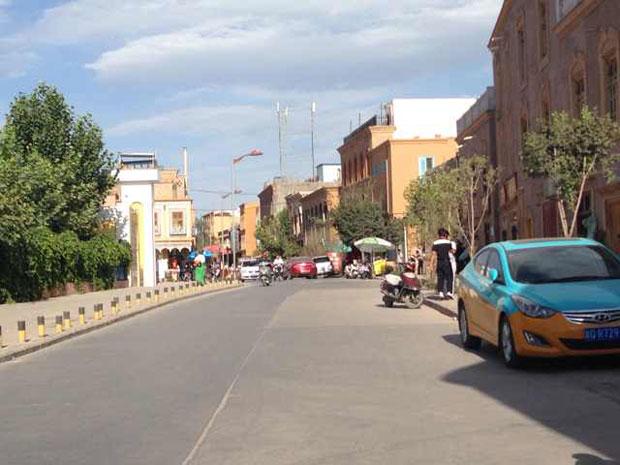 喀什地区很多市民不敢外出,街道冷清。(市民摄)