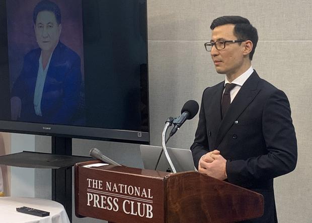2020年2月26日,美國維吾爾協會主席庫紮特‧阿勒泰敦促國際社會關注正在「新疆集中營」發生的事情,他還批評了世衛組織總幹事譚德塞。(維吾爾人權項目提供)