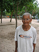 Villager Ek Phan remembers seeing the two captured photographers. Photo: RFA/Dan Southerland